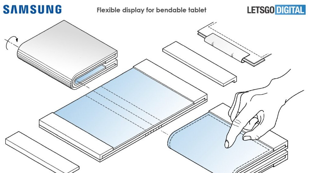 Samsung's Galaxy F could eventually be joined by a foldable tablet