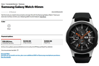 LTE version of the Samsung Galaxy Watch now available at Verizon starting from $380