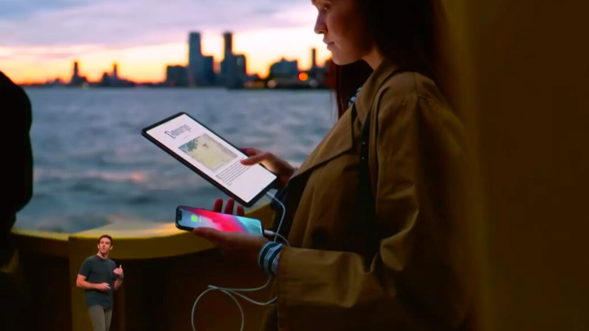 Apple's new iPads can charge your iPhone
