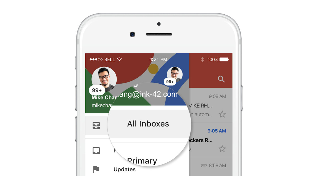 Gmail now features unified inbox to view multiple accounts on iOS