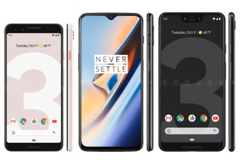 OnePlus 6T vs Pixel 3: the