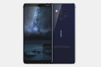 Nokia 9 PureView renders offer our best look yet at those five cameras and no-notch front