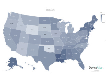 These iOS vs Android state-by-state maps tell if Democrats really prefer iPhones more