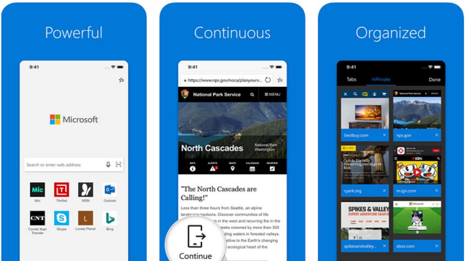 Bei der Aktualisierung der iOS-Version der Microsoft Edge-Browser-App wird die Desktopversion der mobilen Websites