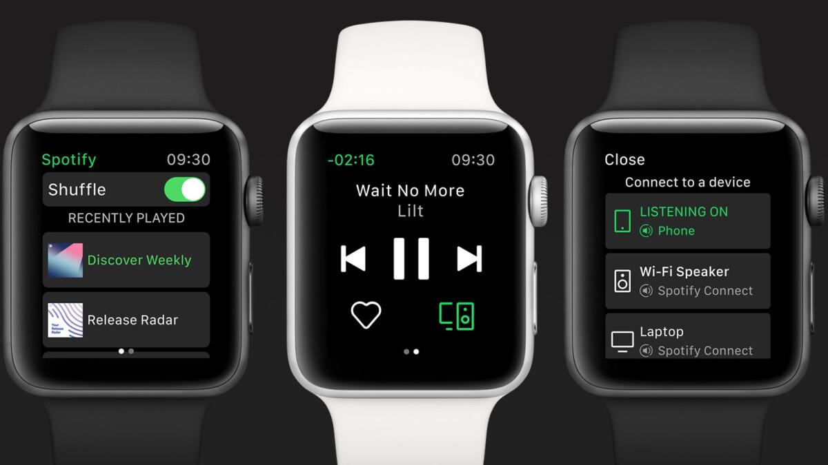 Spotify startet eine eigenständige App für die Apple Watch