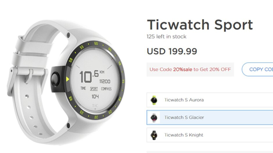 Deal: Save 20% on Mobvoi's Ticwatch smartwatches