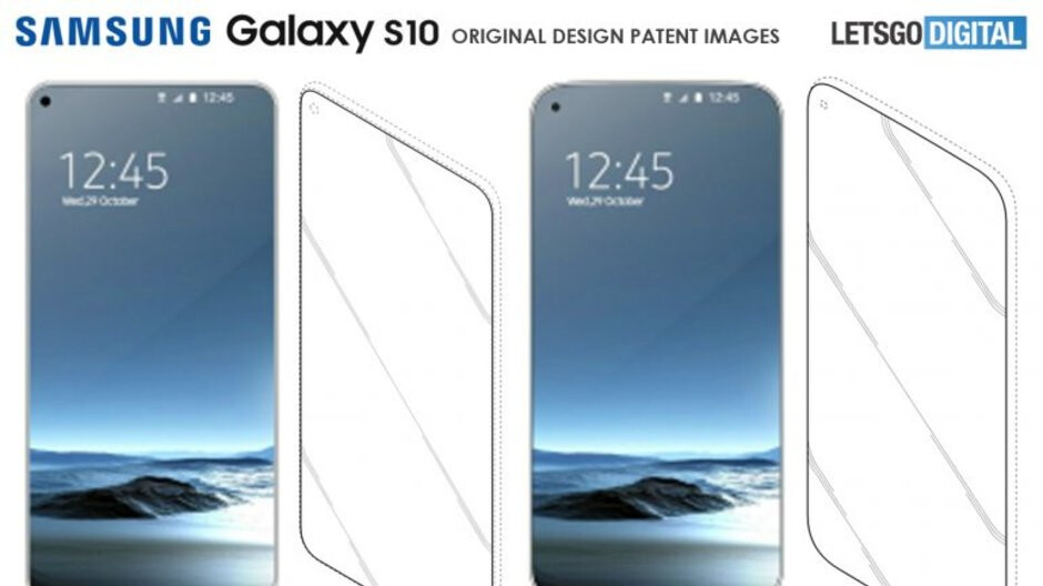 Left-leaning Infinity-O display panel leak corresponds with Samsung's S10 design patents