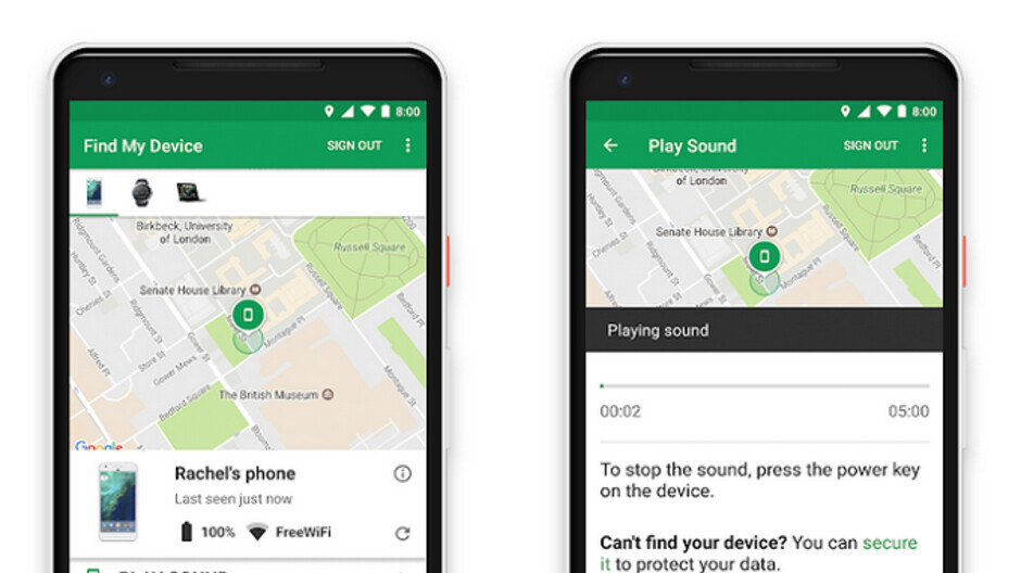 Google update to Find My Device allows it to work indoors with some buildings