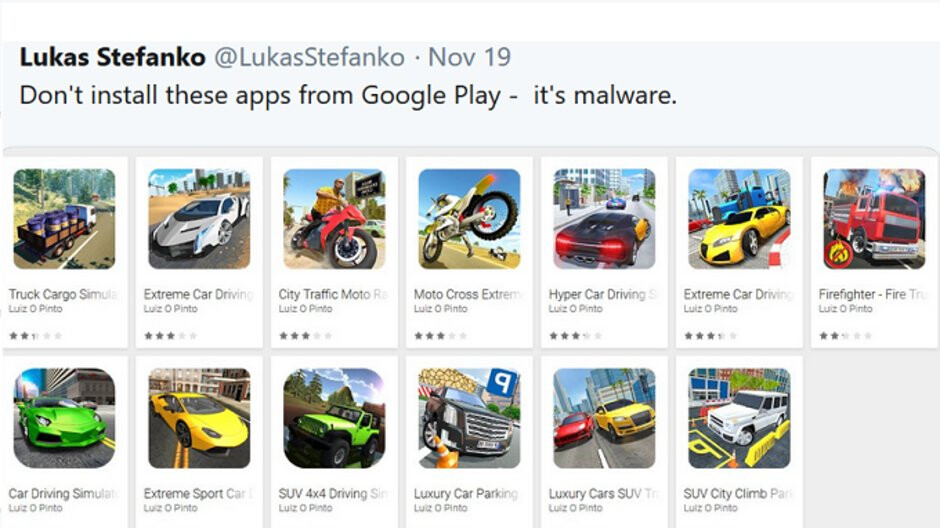 Google removes 13 malicious apps from the Play Store that were disguised as games