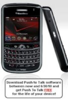 New Verizon BlackBerry Tour 9630 owners getting free push-to-talk service?