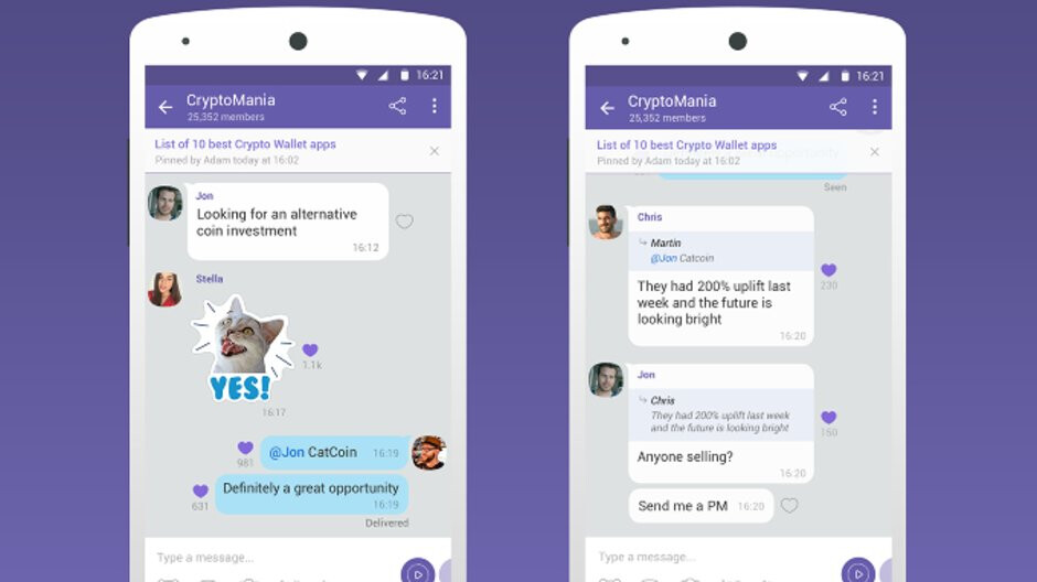 Viber claims it's the first messaging app to launch a group with a 1 billion member capacity