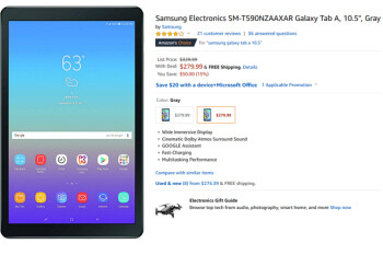 Grab the Wi-Fi only Samsung Galaxy Tab A 10.5 tablet for $280 from Amazon