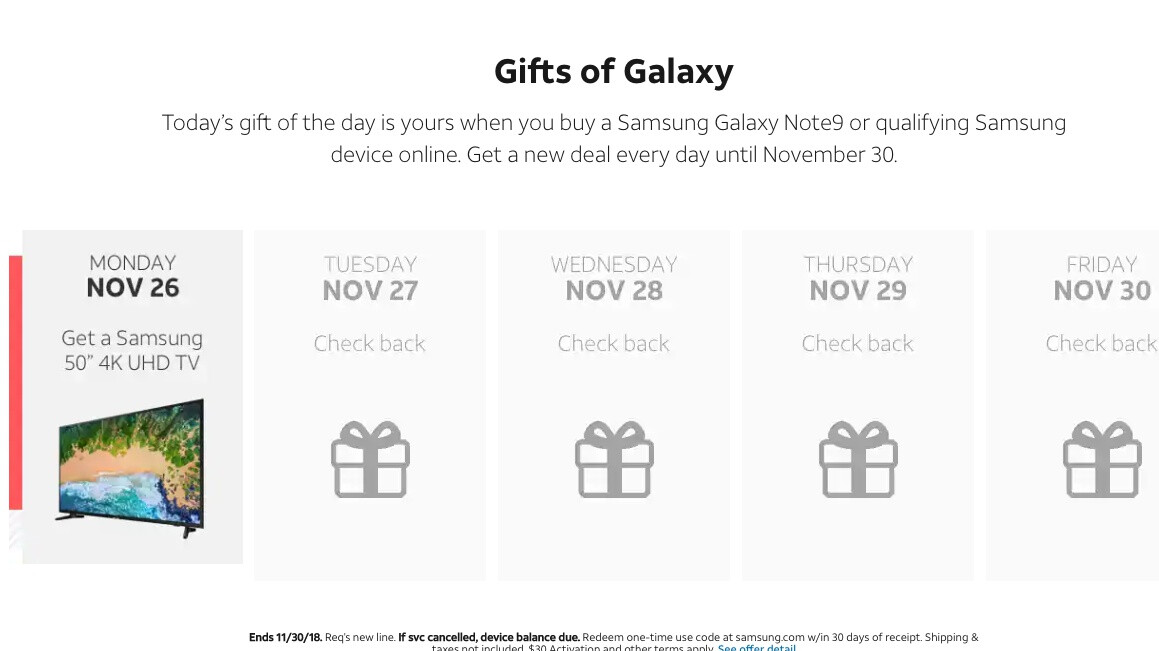 AT&T has the Galaxy Note 9, S9, and S9+ on sale for Cyber