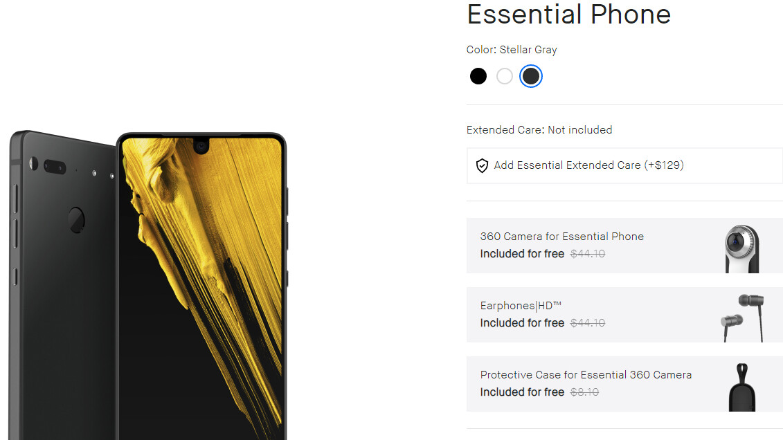 reputable site 772c5 2fdc5 Cyber Monday: Essential Phone Bundle for $329 and 10% off on ...