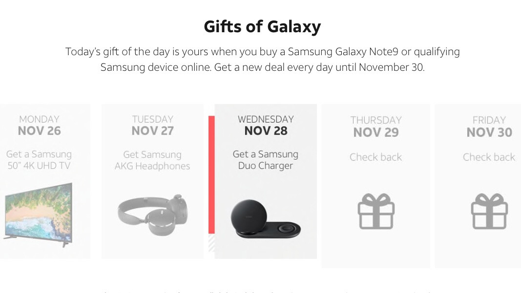 AT&T stays in a gift-giving mood, offering free Wireless Charger Duo with Galaxy Note 9, S9, and S9+