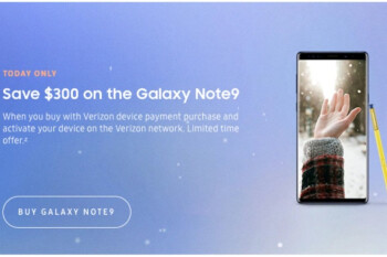 Samsung's Galaxy Note 9 goes $300 off list with Verizon payment plans today only