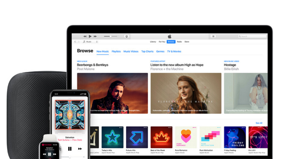 Apple Music's latest beta update includes Android tablet support