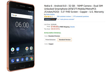 Amazon has a deal on the Nokia 6 (2017); grab the phone for $149 and save 35%