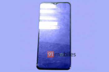 Samsung Galaxy M20 front panel with 'waterdrop' style notch leaks online