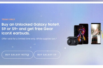Samsung offers free Gear IconX with unlocked Galaxy Note 9, S9, and S9+ today only