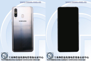 Samsung Galaxy A8s with display hole and triple-camera setup pictured
