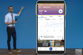 Android version of The Weather Channel is updated with new UI