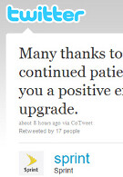 Sprint tweets customers, thanking them for their patience with Android 2.1 delay