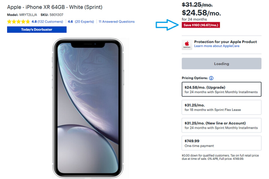 Best Buy Has The Apple Iphone Xr As Low As 365 Today Only With Activation And Trade In Phonearena