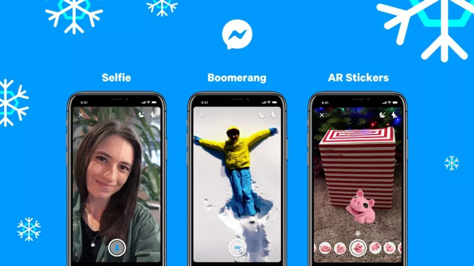 Facebook adds Boomerangs, portrait mode, AR stickers to Messenger