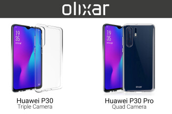 Huawei P30 and P30 Pro renders show waterdrop notch on both, four rear cameras for Pro version