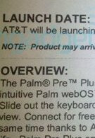 AT&T's Palm Pre Plus expected to make a splash on May 16?