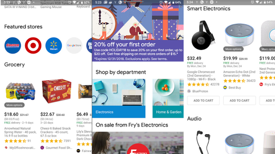Google Express offers first time customers 20% off on ...