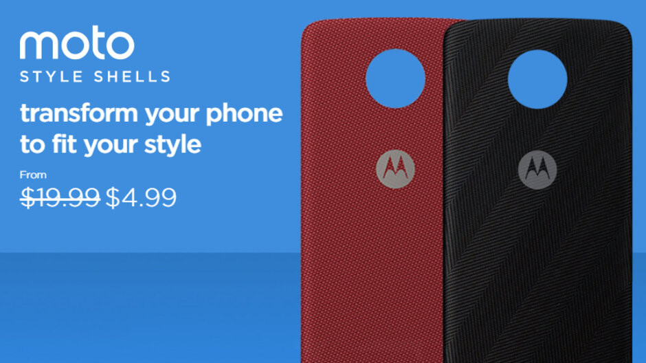 Motorola's Moto Style Shells (for any Moto Z phone) now cost just $4.99