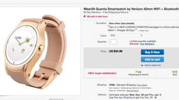 Verizon Wear24 smartwatch with LTE drops to insanely low $34.99 in 'new other' condition