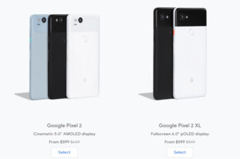 Pixel 2 and Pixel 2 XL drop to just $600 at Google Store