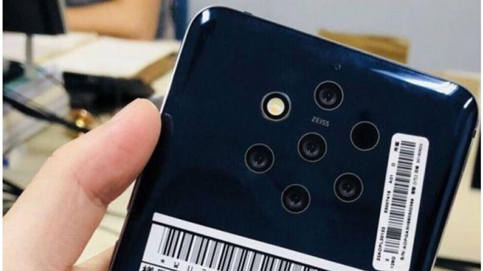 Press image of Nokia 9 PureView surfaces with 5 cameras, in-display fingerprint sensor
