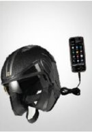 Helmet allows you to charge your phone while casually biking