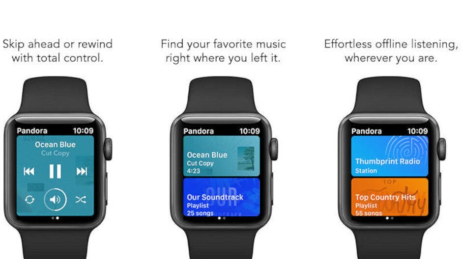 Apple Watch finally gets that promised Pandora offline music playback support