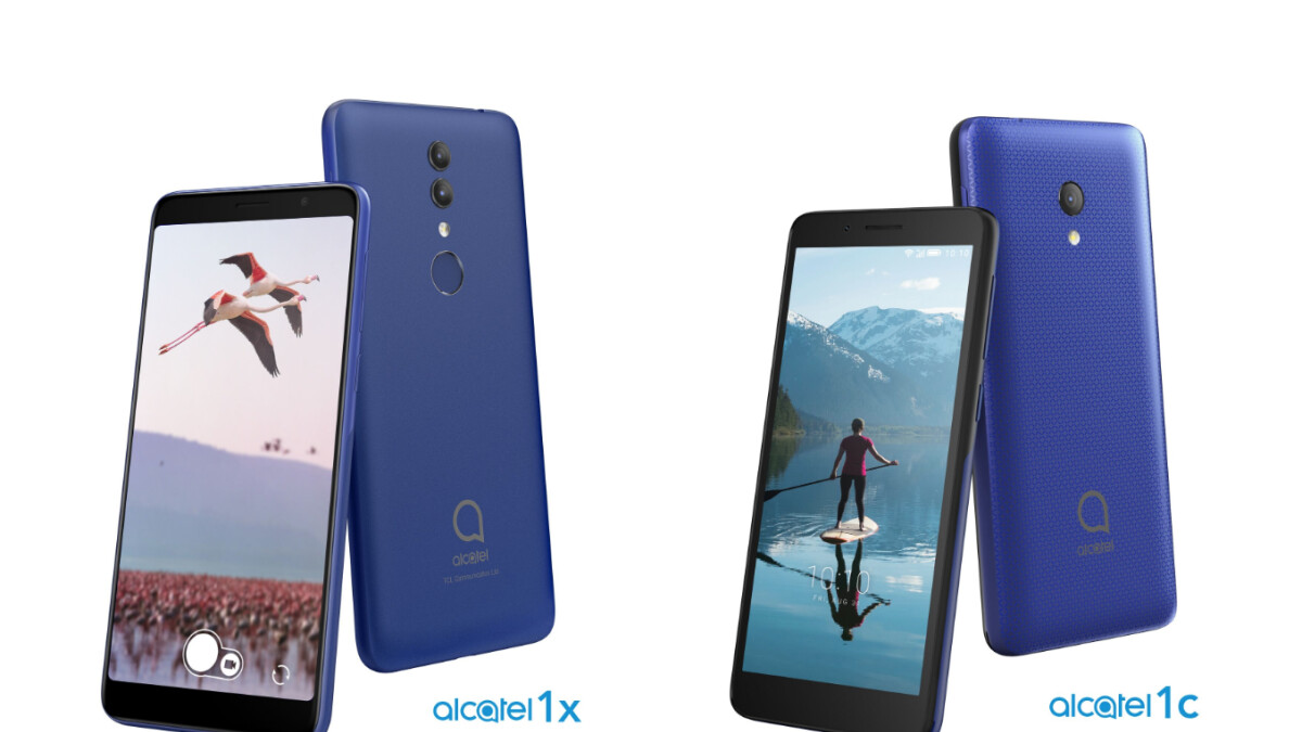 The Alcatel 1X and 1C join the ranks of budget smartphones offered by TCL Communication