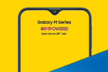 Samsung shows off the new Galaxy M, its first notched phone