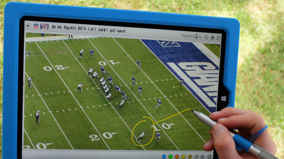 Surface Pro tablet tossed into the stands by NFL coach is