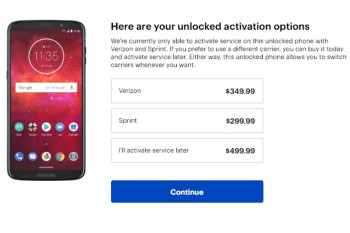 Get an unlocked Moto Z3 Play for as little as $300 ($200 off) with upfront activation
