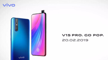 Vivo V15 Pro to be unveiled February 20th with a 32MP pop-up selfie snapper