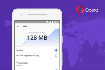 Opera VPN browser releases in beta on Android