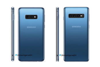 Latest Galaxy S10 & Galaxy S10e press renders showcase blue finish
