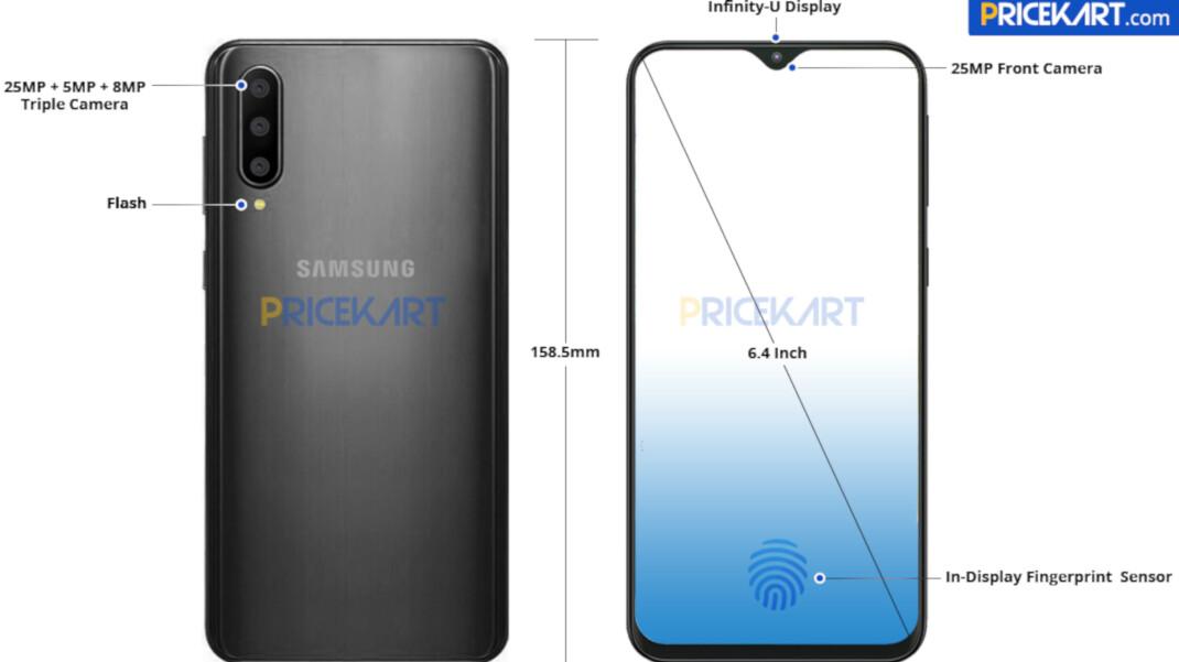 Samsung Galaxy A50 leaked render shows triple camera, minimalistic notch
