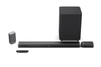 JBL's powerful 3.1/5.1-Channel wireless soundbar & subwoofer systems are $100 off, deal ends today!