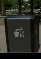 Solar powered trash cans sends out text messages when they're full