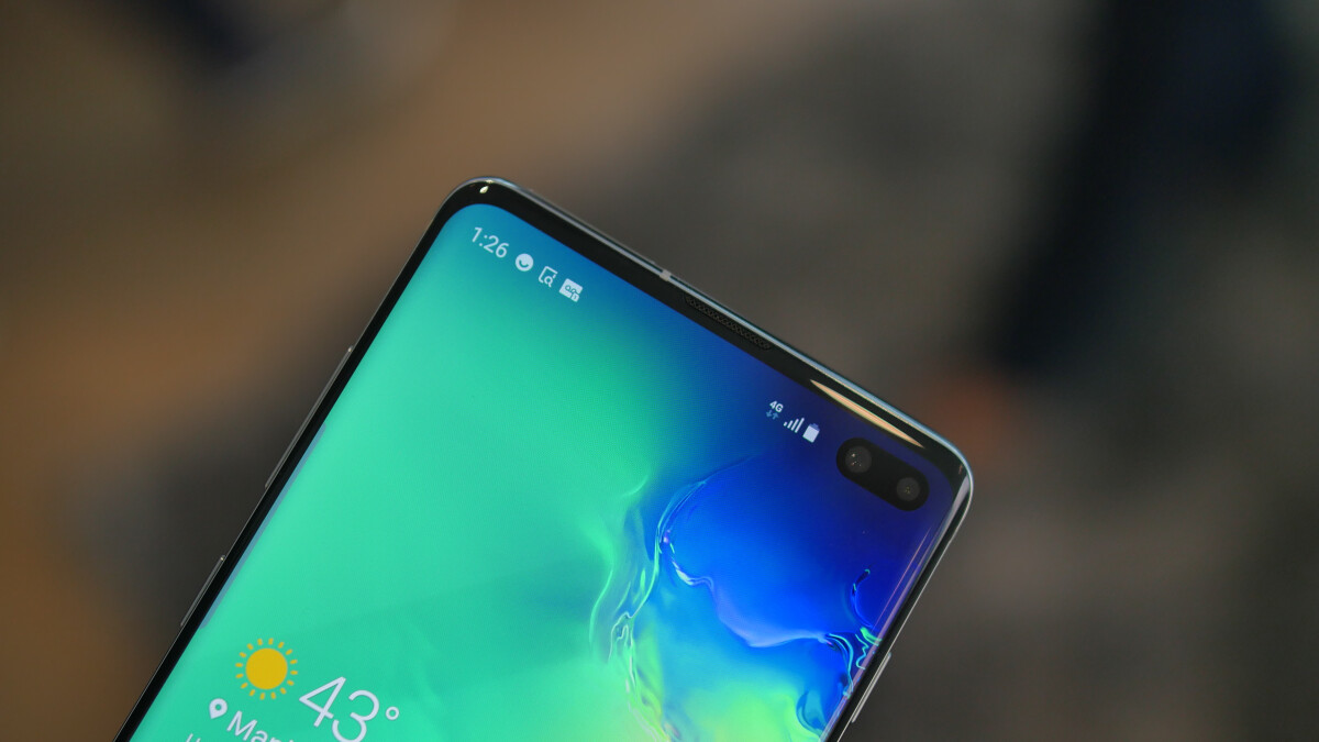 Samsung Galaxy S10 users can hide the front camera cutout