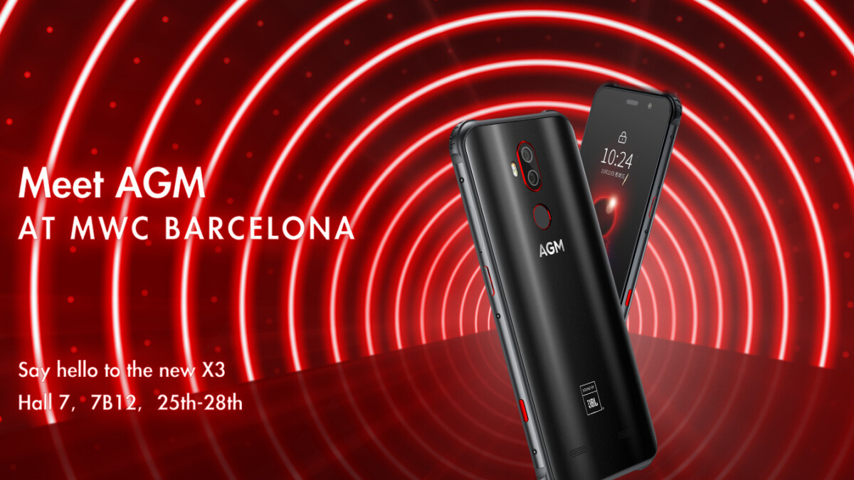 AGM is at MWC: super-durable phones coming to Europe, partnered with JBL for superior audio